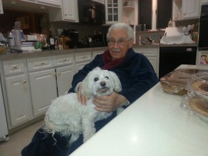 My grandpa, 6/24/15-12/31/12, on Thanksgiving at my aunt's house.