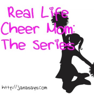 cheer mom button