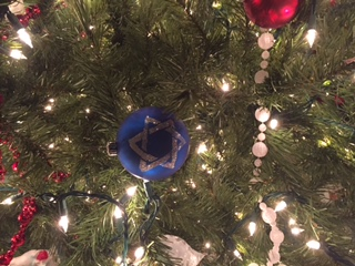 Actual ornament on our actual tree.