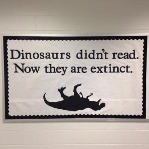 dinosaurs reading
