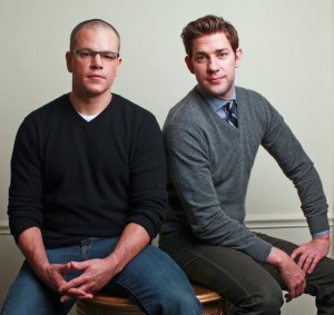 So I know this is not from the movie but when you find a picture of Matt Damon and John Krasinski, YOU POST IT.